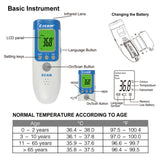 BabyAdult Digital Termomete Infrared Forehead Body Surface Thermometer Temperature Gun - ISaleuk