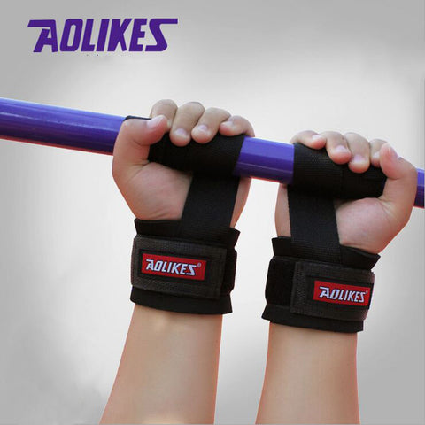 No-Slip Thicken Gym Training Weight Lifting Gloves Bar Grip Wrist Support Protection - ISaleuk