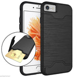 iPhone 7 Credit Card Case Slim Hybrid Hard Brushed style with Card Slot - ISaleuk