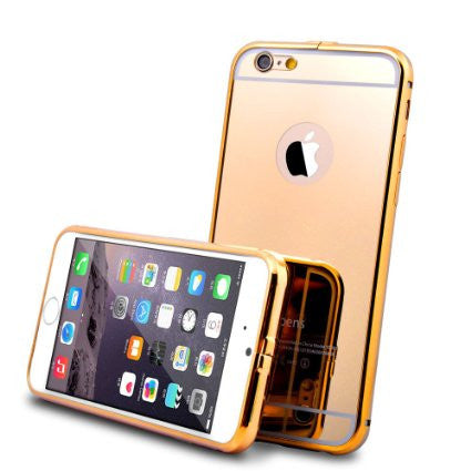 Luxury Aluminum Ultra-thin Mirror Metal Case Cover for Apple iPhone Models 6/ 6s - ISaleuk