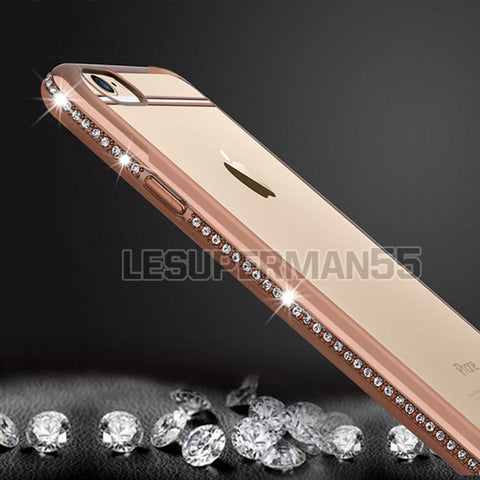 Luxury Ultra Thin Crystal Diamond Bling Gel Case Cover Clear Apple iPhone 6s 6 - ISaleuk