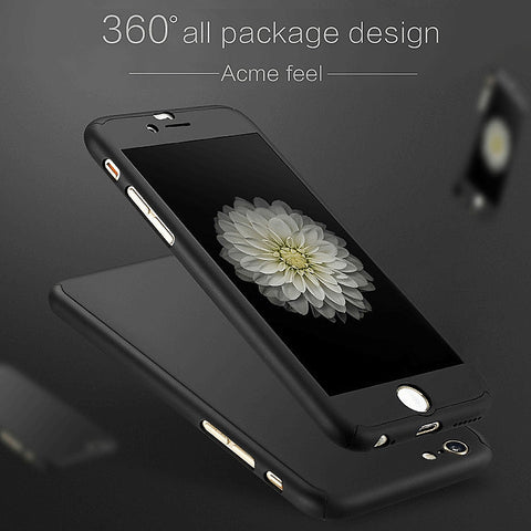 New Hybrid 360° Hard Ultra thin Case + Tempered Glass Cover For iPhone 7 - ISaleuk