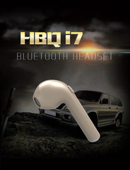 NEW UK HBQ SINGLE i7 Bluetooth Wireless Music Earphone Mini Headphones With Mic any phone - ISaleuk