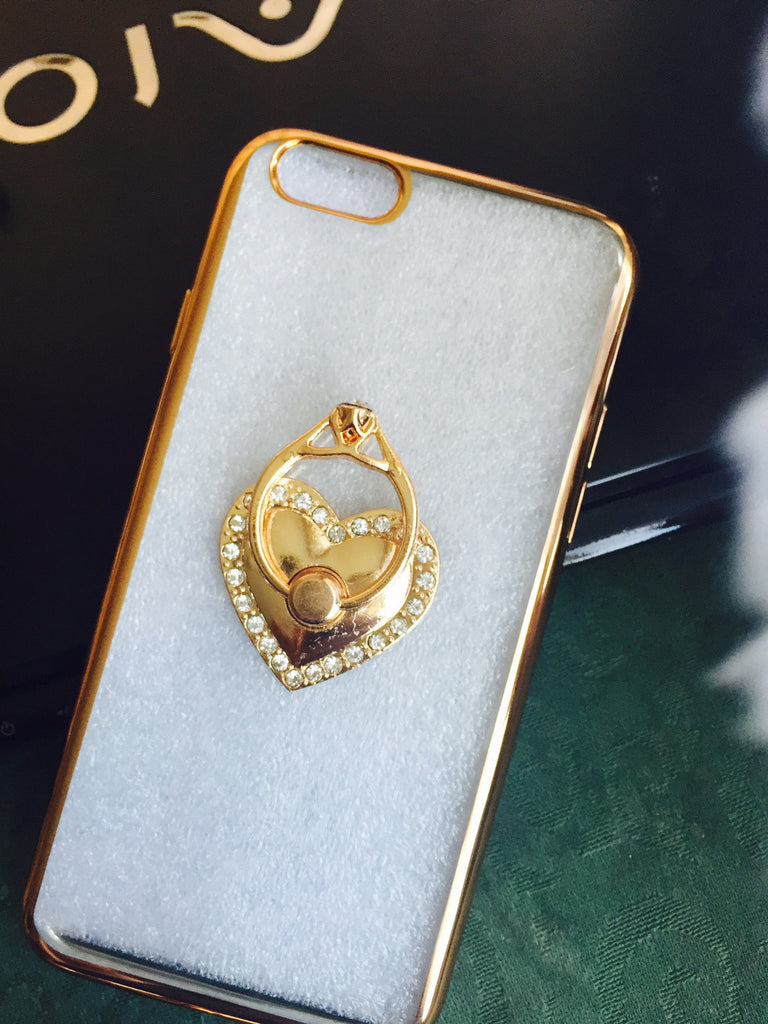 Luxury Silicon Diamond Gold Key chain Case Cover for Apple iPhone Models 6s / 6 - ISaleuk