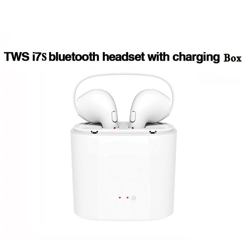 Wireless HBQ i7 TWS Twins Bluetooth In-Ear Earbuds Earphone with Charger Box - ISaleuk