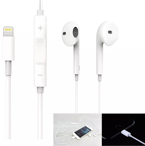 EarPods Headphones Earphones Lightning Wired For iPhone 7, 7 Plus 8, 8 Plus, X - ISaleuk
