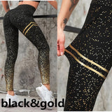 Gym Yoga Pants Sports Wear For Women  Push Up Tights Printed Pants - ISaleuk