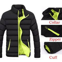 Ultra-light Parka Mens Jackets And Coats Stand Collar Bubble Coat Puffer Jackets - ISaleuk