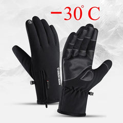 Winter Waterproof Gloves Touch Screen Anti-Slip Zipper Gloves Men Women - ISaleuk
