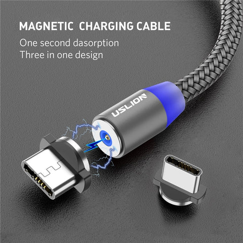 Magnetic USB Cable Fast Charging USB Type C Cable Magnet Charger Data Charge Micro - ISaleuk