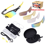 ROCKBROS Pro Polarized Cycling Glasses Bike MTB Sports Sunglasses 5 Lens Goggles - ISaleuk