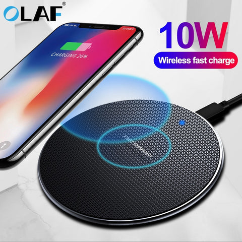 10W Fast Wireless Charger For Samsung Galaxy USB Qi Charging Pad for iPhone - ISaleuk