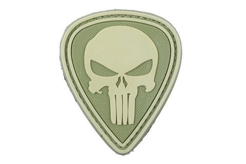 Green Punisher morale patch - 3D Badge