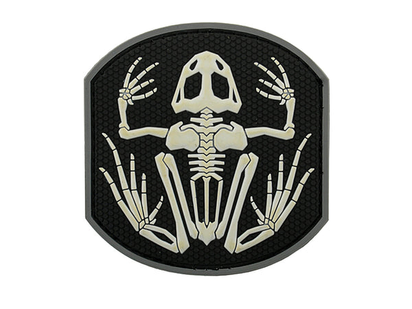 Frog Skeleton PvC Patch Black