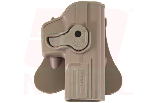 Nuprol right handed EU series holster tan