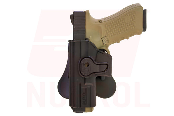 Nuprol left handed EU series holster black