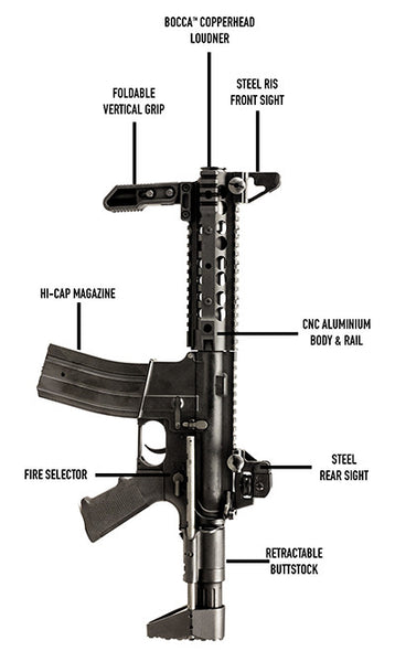 Nuprol Delta: Freedom Fighter - Black AEG Assault Rifle
