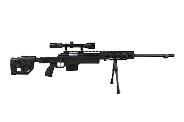 MB4411D sniper rifle replica with scope and bipod