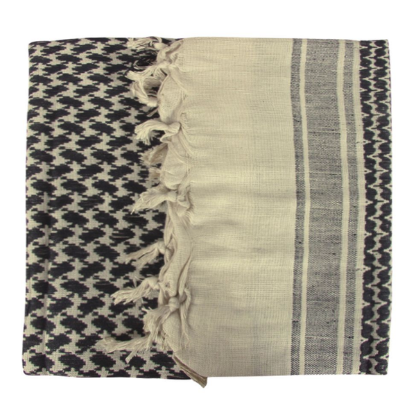 Shemagh Scarf Sand/Black