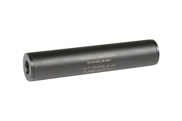 """Stay 100 meters back"" Covert Tactical PRO 35x150mm silencer"