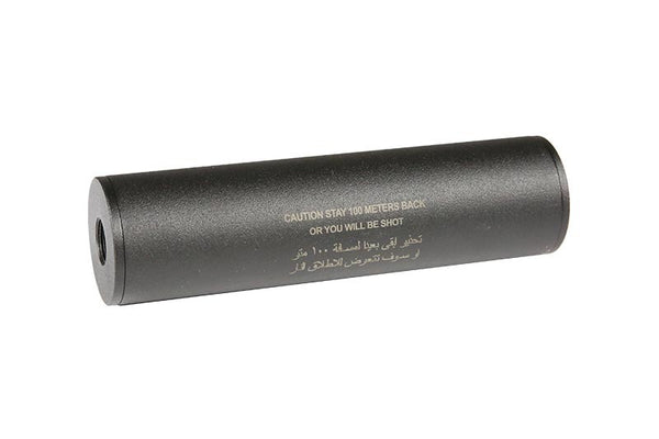"""Stay 100 meters back"" Covert Tactical Standard 40x150mm silencer"