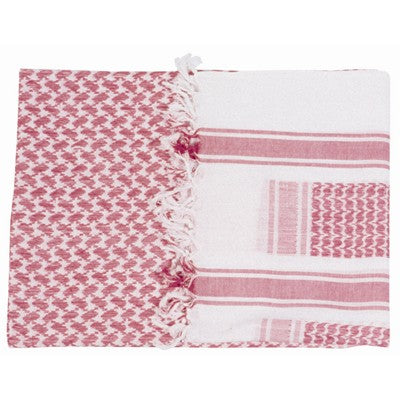 Shemagh Scarf Red/White