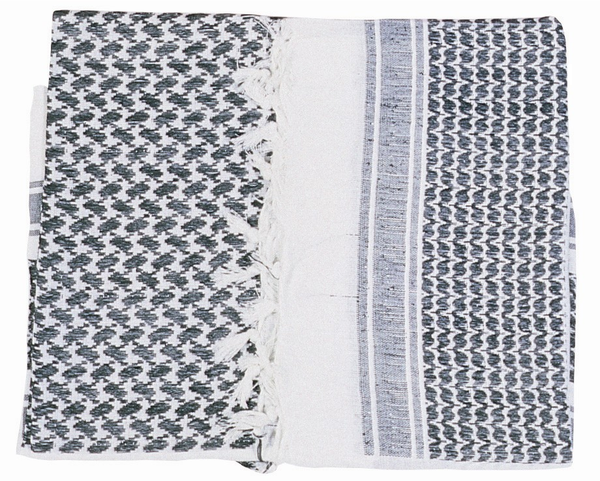 Shemagh Scarf White/Black