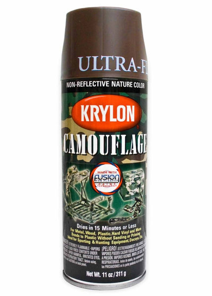 Krylon Ultra Flat Spray Paint Brown