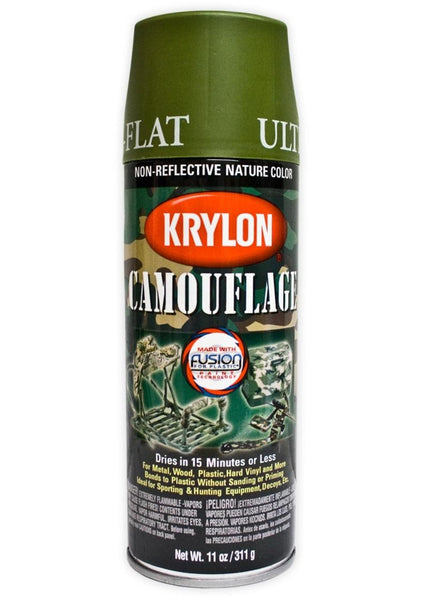 Krylon Ultra Flat Spray Paint Woodland Light Green