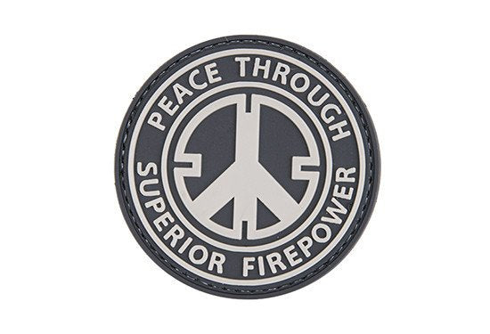 Peace through Superior firepower - 3D Badge