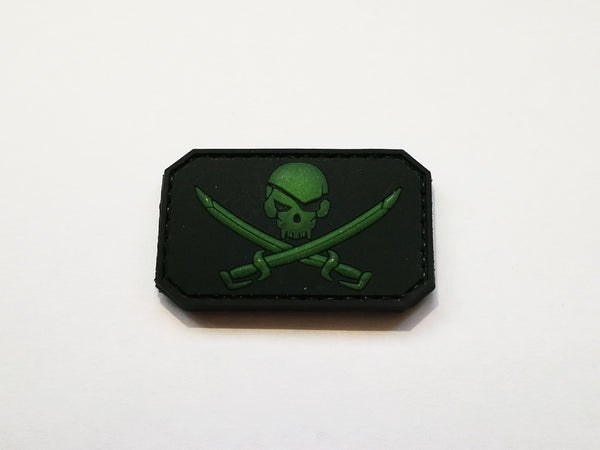 Green Skull & Crossbone - 3D Badge