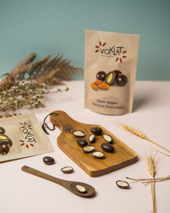 100g VOKLAT VEGAN Dark Almond Chocolate