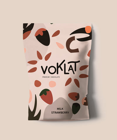 100g VOKLAT Milk Strawberry Belgian Chocolate