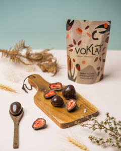 100g VOKLAT VEGAN Dark Strawberry Chocolate
