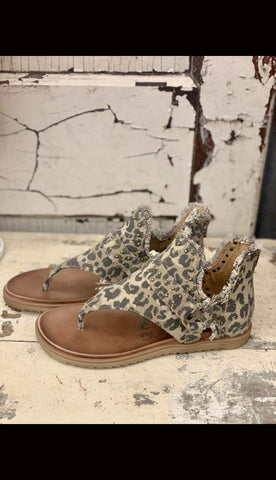 Journey Leopard Sandals - Paint Chips and Glitter
