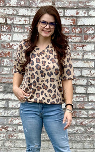 Meredith Animal Print Top - Paint Chips and Glitter