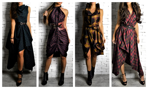 Alex Christopher |tartan dresses | Grand National | Aintree races
