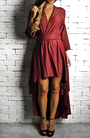 Red AC Wrap Dress | Occasion Dresses | ETTO Boutique