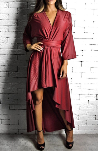 Red Wrap Dress | Dresses for the Races | Handmade | ETTO Boutique