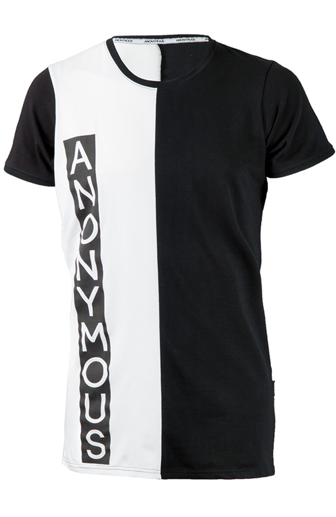ANONYMOUS Logo Block Crew - Black/White