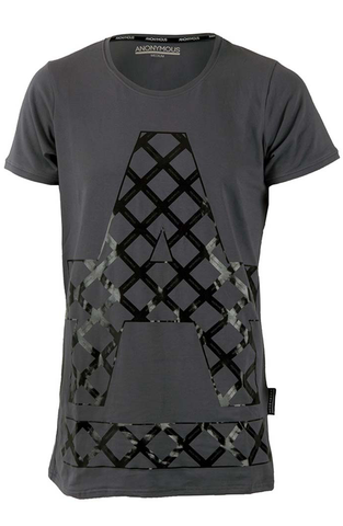 ANONYMOUS Cross Hatch T-Shirt - Grey