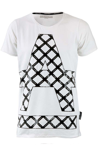 ANOYMOUS Cross Hatch T-Shirt - White