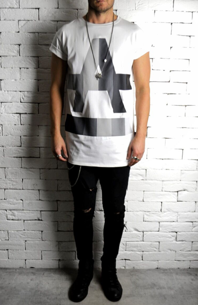 ANONYMOUS Gradient Long T-shirt