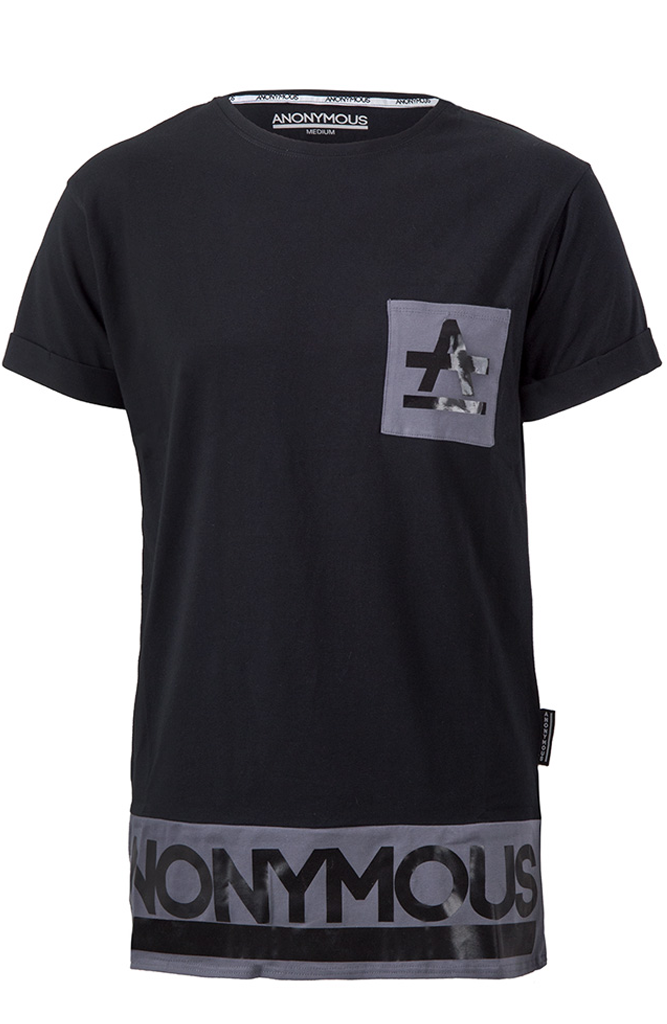 ANONYMOUS Pocket Long T-Shirt - Black