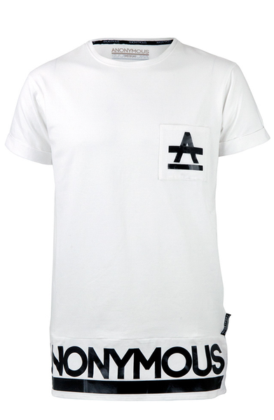 ANONYMOUS Pocket Long T-Shirt - White