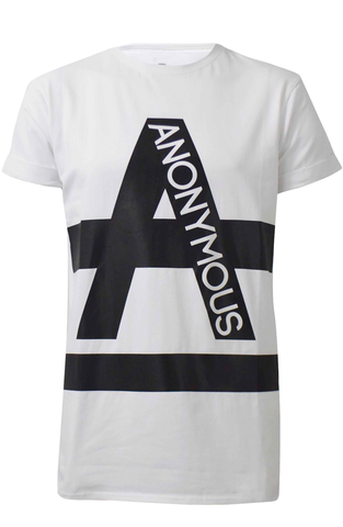ANONYMOUS Text Long T-Shirt - White