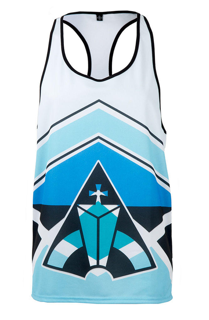 Sublimation Basketball Racer Back - Sea