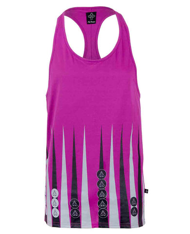 Hot Pink Backgammon Printed Ibiza Vest | Men's Vests | ETTO Boutique