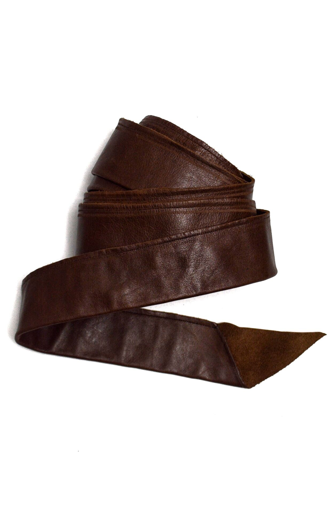 Brown Leather Wrap Belt | Waist Belts | ETTO Boutique