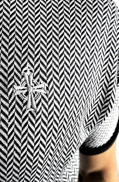 Herringbone Panel T-Shirt | Mens Unique T-Shirts | ETTO Boutique